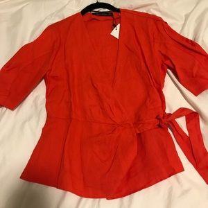 Red Zara Top